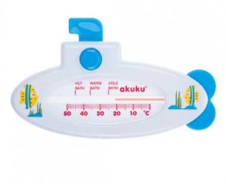 Teploměr do vody Ponorka bílá