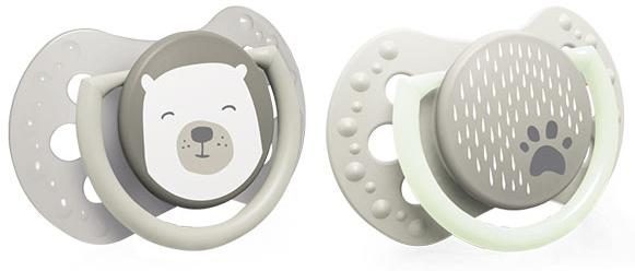 Canpol babies Dudlíky 0 - 2 m Buddy Bear - béžové