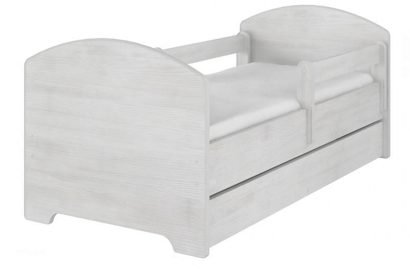 Dětská postel HELI v barvě norské borovice s šuplíkem 160x80 + matrace zdarma