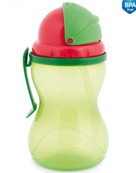 Canpol babies Sportovní láhev se slámkou 370 ml - zelená