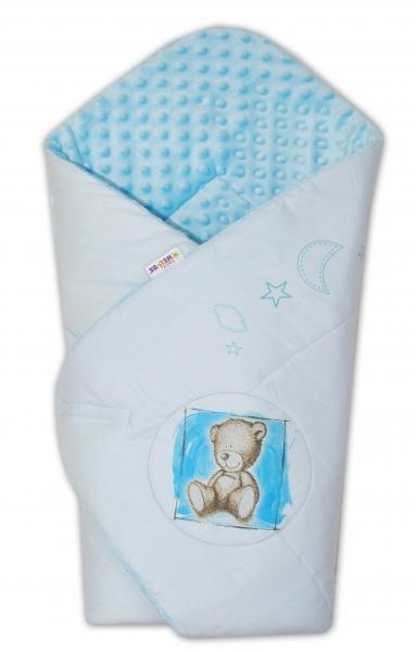 Zavinovačka, bavlněná s minky 75x75cm by Teddy -  sv. modrá, sv. modrá