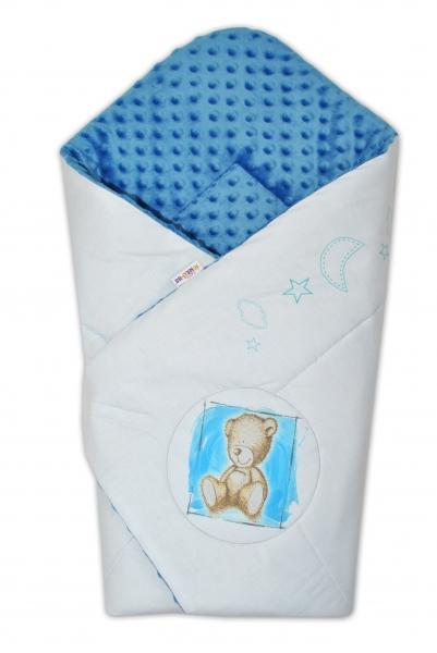Zavinovačka, bavlněná s minky 75x75cm by Teddy -  sv. modrá, modrá