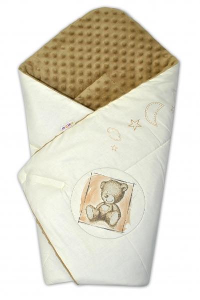 Zavinovačka, bavlněná s minky 75x75cm by Teddy -  písková, sv. hnědá