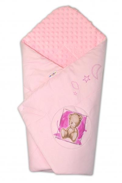 Zavinovačka, bavlněná s minky 75x75cm by Teddy -  sv. růžová, sv. růžová