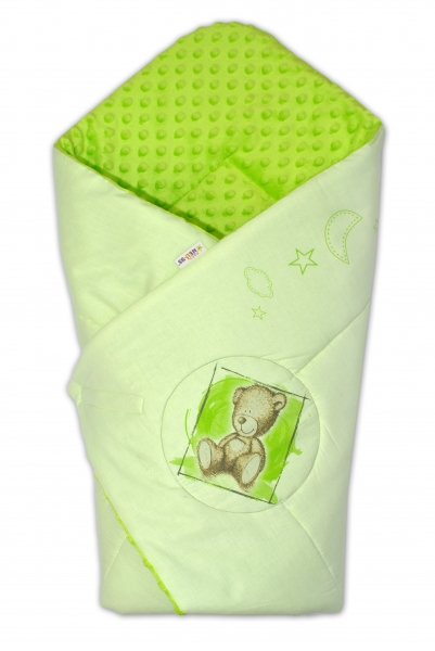 Zavinovačka, bavlněná s minky 75x75cm by Teddy -  sv. zelená, sv. zelená