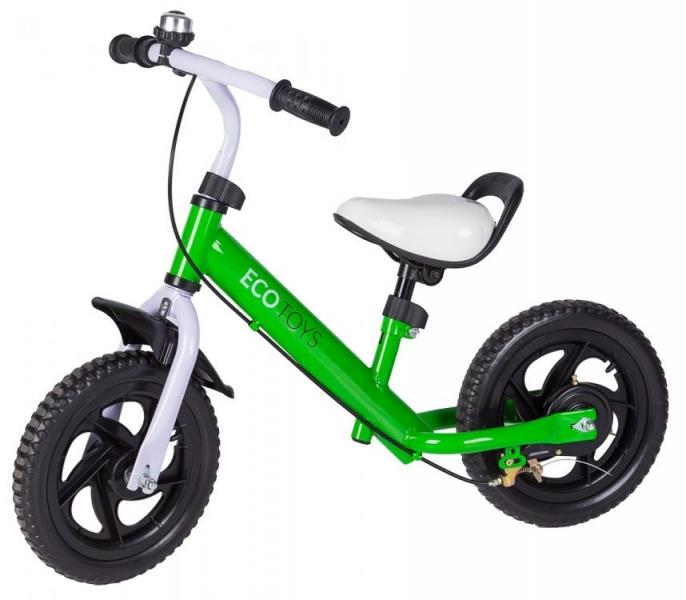 Eco toys Odrážedlo s brzdou, kolo - zelené