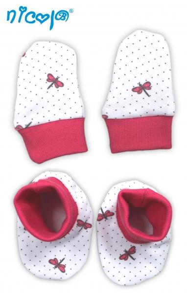 Kojenecká sada - rukavičky s botičkami Vážka