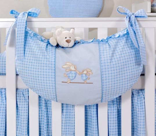 Luxusní kapsář na hračky - Zajíčci modří kr.