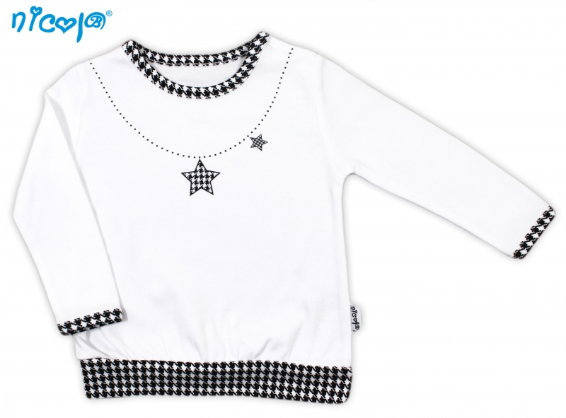 Bavlněné tričko Lena - dlouhý rukáv, roz. 74, Velikost: 74 (6-9m)