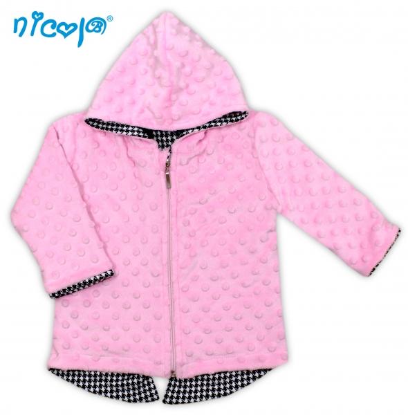 Kabátek/mikinka Minky Lena s kapuci