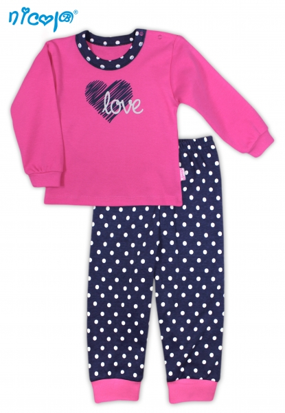 Bavlněné pyžamko Love, roz. 86