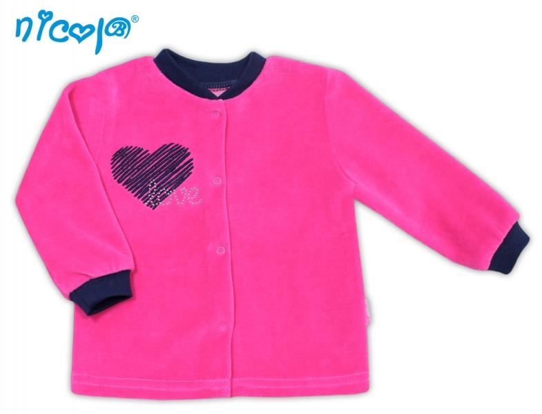 Velurová košilka Love, roz. 74, Velikost: 74 (6-9m)