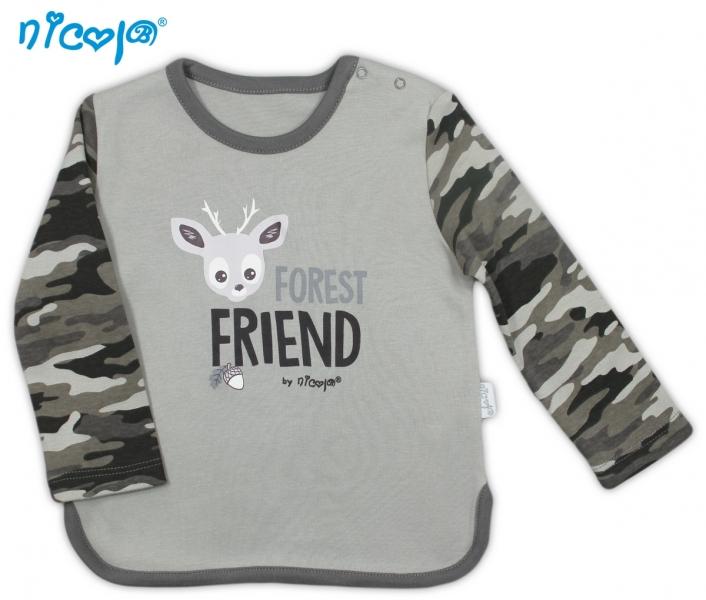 Bavlněné tričko Koloušek - dlouhý rukáv, vel. 98