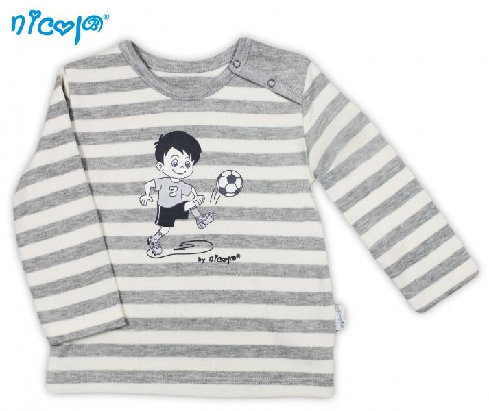 Bavlněné tričko Football - dlouhý rukáv, roz. 86, Velikost: 86 (12-18m)