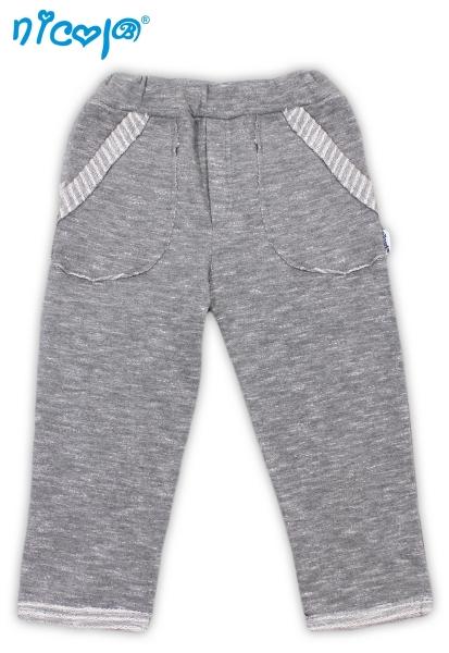 Tepláčky/kalhoty Football - šedé, vel. 86, Velikost: 86 (12-18m)