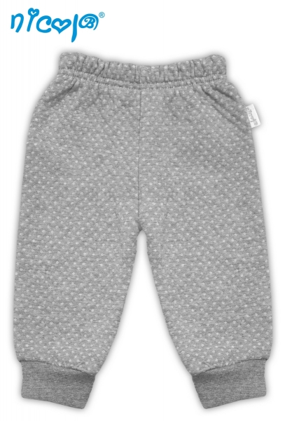 Nicol Tepláčky/kalhoty Football - šedé se stahovkou, vel. 74