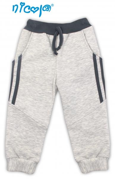 Nicol Tepláčky, kalhoty Planeta - šedé, roz. 92, Velikost: 92 (18-24m)