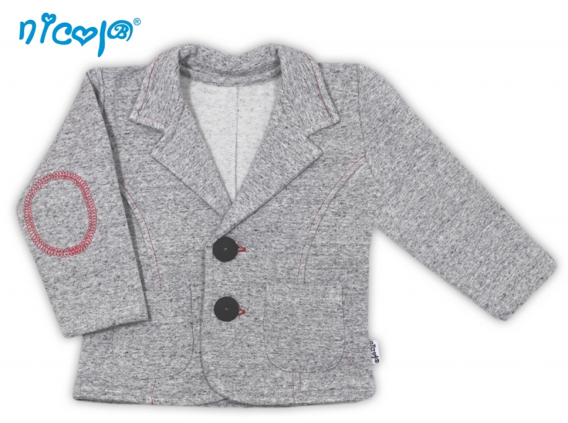 Kabátek/sáčko Pejsek - šedý, vel. 80