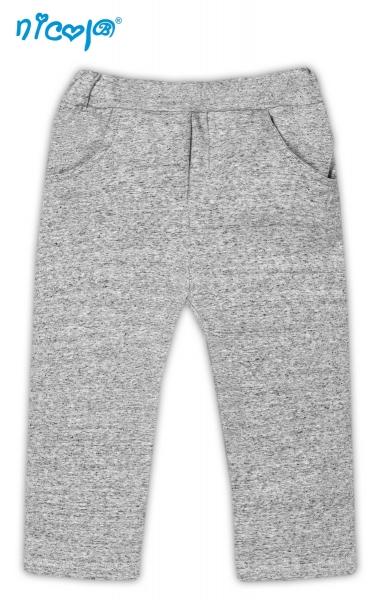 Tepláčky, kalhoty Pejsek - šedé s kapsami, vel. 80, Velikost: 80 (9-12m)