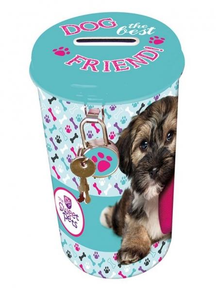 Pokladnička plechová velká The Sweet Pets Pes