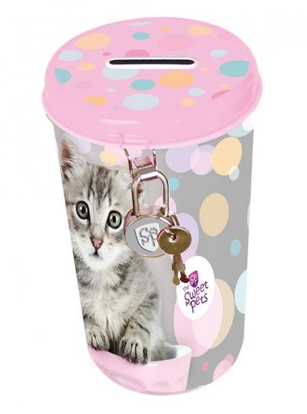 Pokladnička plechová velká The Sweet Pets Kočka