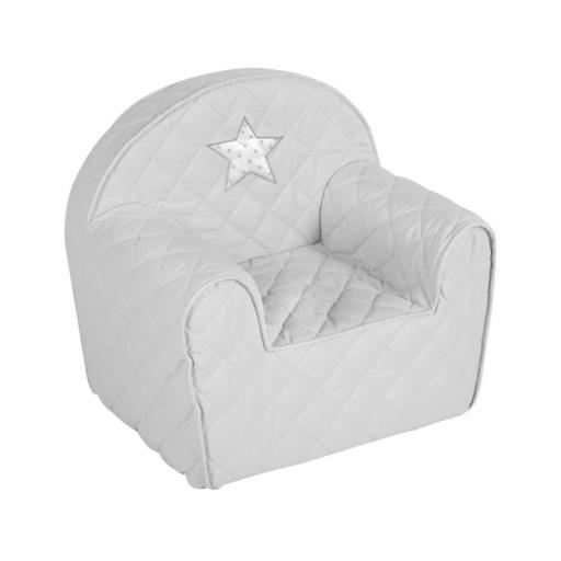 Albero Mio Dětské křesílko/pohovečka Hvězdička - šedé