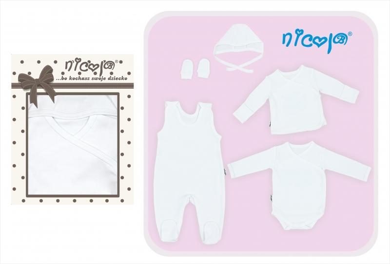 Soupravička do porodnice 5D  - bílá, roz. 56