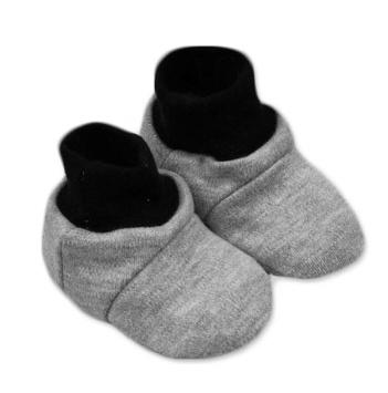 Botičky/ponožtičky,Little prince/princess bavlna  - šedé, Velikost: 0/6 měsíců