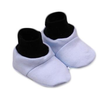 Baby Nellys Botičky/ponožtičky,Little prince  bavlna  - modro/černé