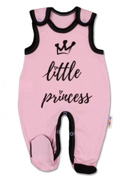 Baby Nellys Kojenecké bavlněné dupačky, růžové - Little Princess