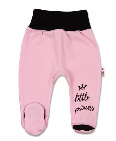 Baby Nellys Kojenecké polodupačky, růžové Little Princess