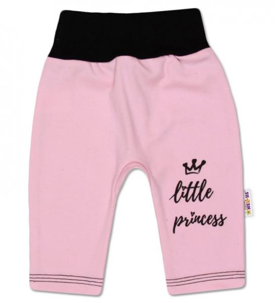 Bavlněné tepláčky, růžové, vel. 74 - Little Princess, Velikost: 74 (6-9m)