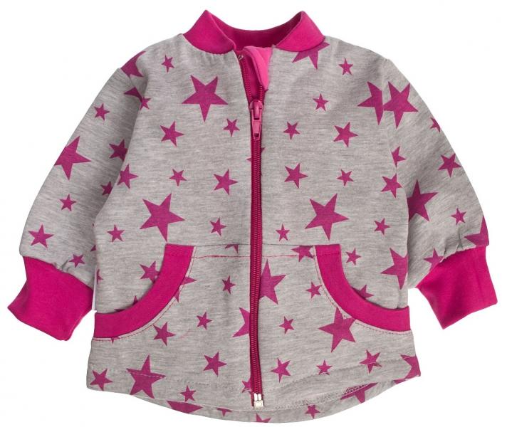 Bavlněná mikinka Hvězdičky růžové
