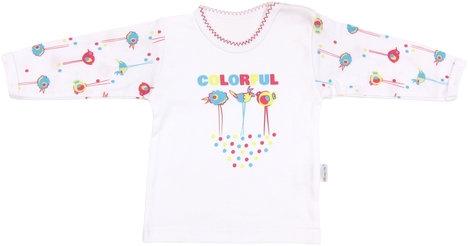 Bavlněné tričko Bird - dlouhý rukáv, roz. 98, Velikost: 98 (24-36m)