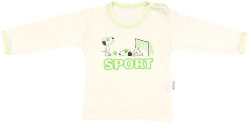 Bavlněné tričko Dog - dlouhý rukáv, vel. 86, Velikost: 86 (12-18m)