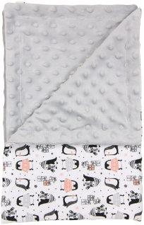 Dětská deka, dečka Penguin 80x90 - MINKY, bavlna