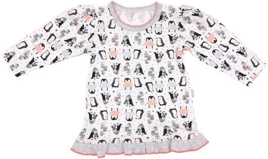 Mamatti Bavlněná halenka Penguin - dlouhý rukáv, roz. 104