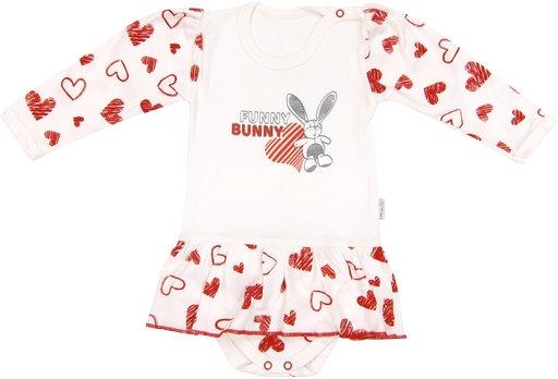 Bavlněné sukničkobody Heart - dlouhý rukáv, roz. 74