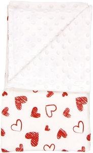 Dětská deka, dečka Heart 80x90 - MINKY, bavlna