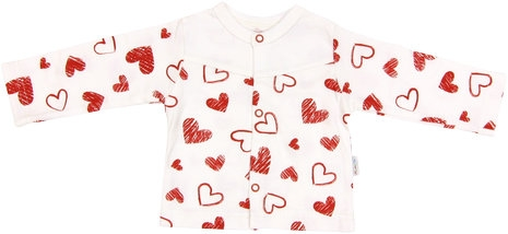 Bavlněná košilka Heart, roz. 74, Velikost: 74 (6-9m)