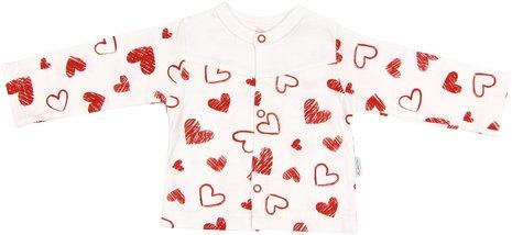 Bavlněná košilka Heart, roz. 80, Velikost: 80 (9-12m)