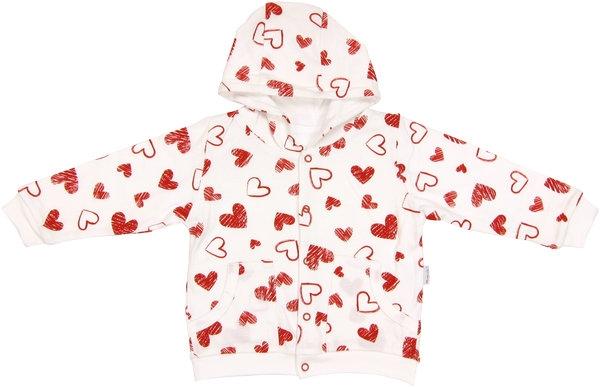 Mikinka s kapucí Heart, roz. 74, Velikost: 74 (6-9m)