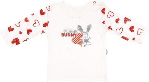 Bavlněné tričko Heart - dlouhý rukáv, roz. 98, Velikost: 98 (24-36m)