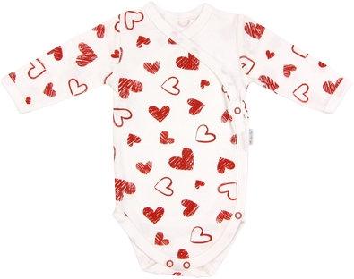 Body Heart - dlouhý rukáv - zapínání bokem, roz. 62