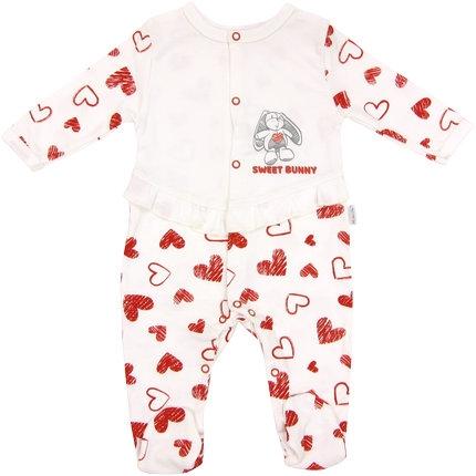 Kojenecký bavlněný overálek Heart, roz. 68, Velikost: 68 (4-6m)