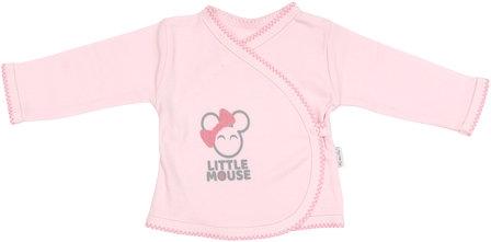 Košilka Little mouse - zapínání bokem, roz. 62