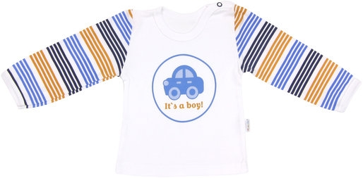 Bavlněné tričko Boy - dlouhý rukáv, vel. 80, Velikost: 80 (9-12m)