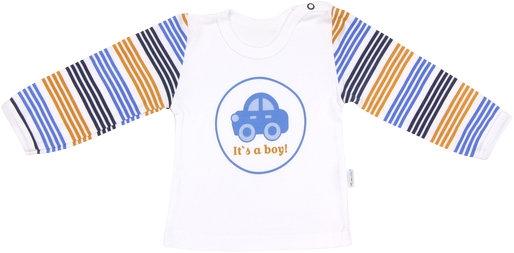 Bavlněné tričko Boy - dlouhý rukáv, vel. 86, Velikost: 86 (12-18m)