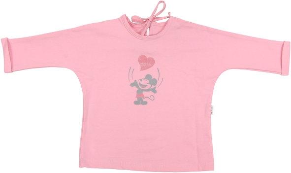 697abafc13f Bavlněné tričko Little mouse - dlouhý rukáv - růžové empty