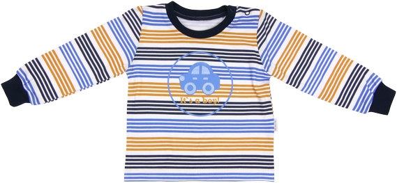 Bavlněné tričko Boy, vel. 80, Velikost: 80 (9-12m)
